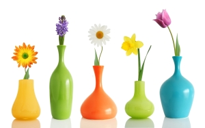 Colorful-Flowers-Vases
